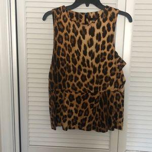 Zara Leopard Print A Line Top